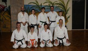 Teilnehmer beim ersten Training
