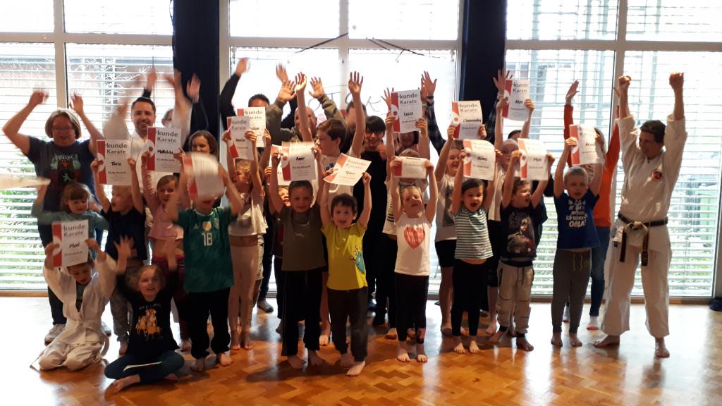 Teilnehmer des Kinder Anfängerkurses April 2019