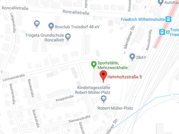 Lageplan Helmholzstraße