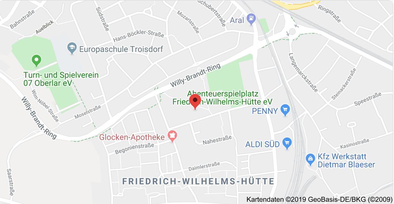 Karte Stadtteilhaus FWH