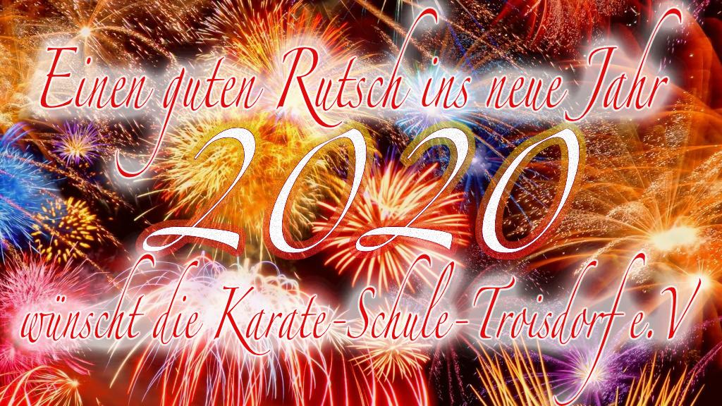 Wir wünschen einen guten Rutsch ins neue Jahr