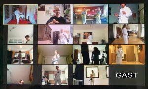 Bild eines Onlinetraining mit mehreren Teilnehmern