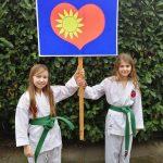 Kinder der Karate Schule Troisdorf e.V. bei der Herzaktion 2021