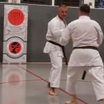 Karateka beim Training