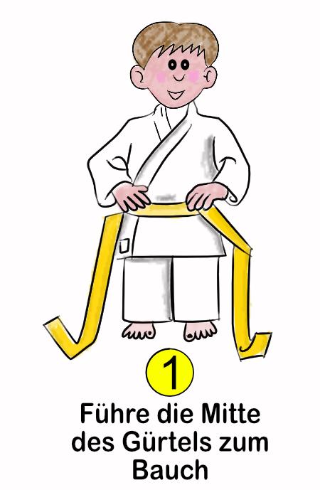 Wie binde ich einen Gürtel Schritt-1