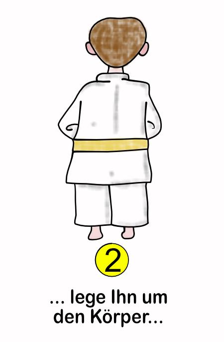 Wie binde ich einen Gürtel Schritt-2