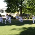 Kinder der Karateschule beim Aussentraining 2020