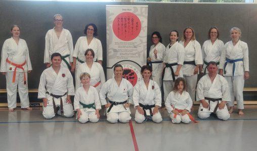 Gasttrainerin Anika Lapp in der Karate-Schule Troisdorf e.V.